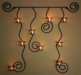 Wandteelichthalter Lysa Wandkerzenhalter Metall 74cm Teelichthalter Kerzenhalter