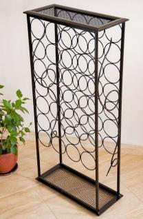 weinregal rico 100cm flaschenst nder aus metall f r 28 flaschen regal kaufen bei dandibo. Black Bedroom Furniture Sets. Home Design Ideas