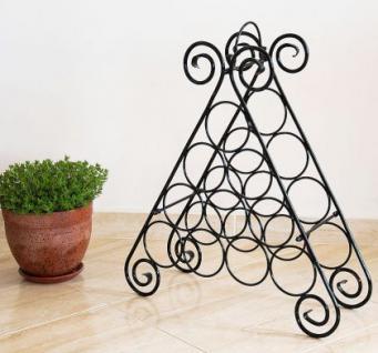 weinregal kalina pyramide aus metall f r 10 flaschen flaschenst nder regal kaufen bei. Black Bedroom Furniture Sets. Home Design Ideas