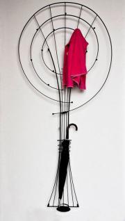 Garderobe Kleiderständer Baum 180cm mit Schirmständer Wandgarderobe aus Metall