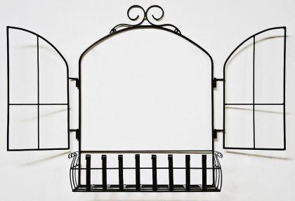 wandblumenhalter fenster blumenst nder aus metall wandregal blumenregal regal kaufen bei. Black Bedroom Furniture Sets. Home Design Ideas