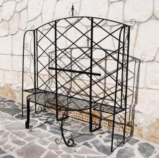 Rosenbogen mit Bank Cadiz aus Metall Gartenbank Rankhilfe Spalier Kletterhilfe - Vorschau 4