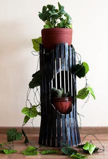 blumens ule albero 60cm blumenhocker metall blumentisch. Black Bedroom Furniture Sets. Home Design Ideas
