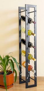 Designer Weinregal Pit 100cm aus Metall Flaschenständer Flaschenhalter Bar