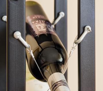 Designer Weinregal Pit 100cm aus Metall Flaschenständer Flaschenhalter Bar - Vorschau 2