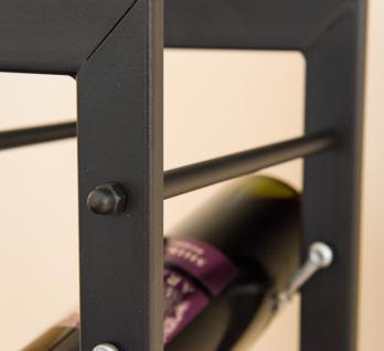 Designer Weinregal Pit 100cm aus Metall Flaschenständer Flaschenhalter Bar - Vorschau 4