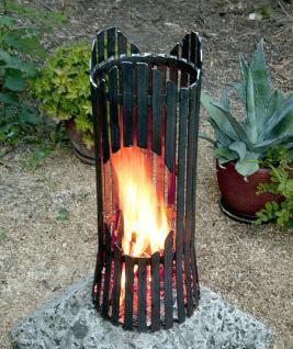 Feuersäule Albero Feuerkorb 80002 Feuerschale 60cm Metall Feuerstelle Säule - Vorschau 4
