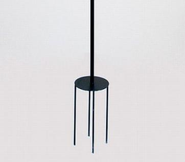 rankhilfe mit 4 halter rankgitter aus metall h 150cm d. Black Bedroom Furniture Sets. Home Design Ideas