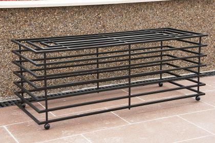 bank futura modern gartenbank 11670 sitzbank 110cm aus metall eisen blumenbank kaufen bei. Black Bedroom Furniture Sets. Home Design Ideas