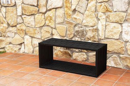 bank d stil modern gartenbank 11671 sitzbank 100cm aus metall eisen blumenbank kaufen bei. Black Bedroom Furniture Sets. Home Design Ideas