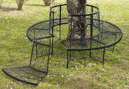 rundbank xxl d 200cm aus metall bank baumbank sitzbank gartenbank schmiedeeisen kaufen bei. Black Bedroom Furniture Sets. Home Design Ideas