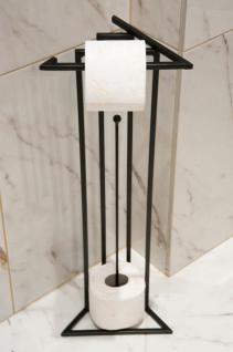Designer Toilettenrollenständer Luxx Black Toilettenpapierhalter Toilettenrollenhalter