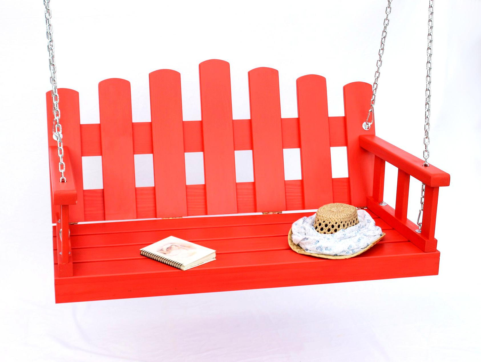 Hollywoodschaukel Holz Mit Auflage ~   mit Ketten und Auflage Gartenschaukel Hollywoodschaukel Hängesessel 3