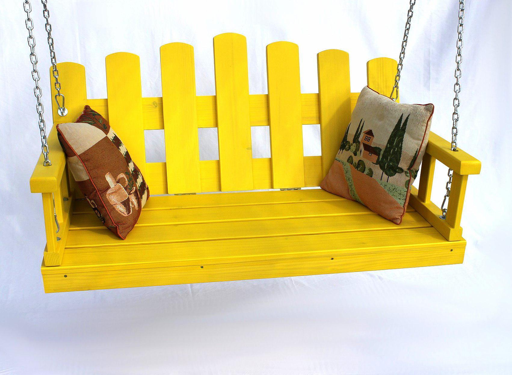 Hollywoodschaukel Holz Mit Auflage ~   mit Ketten und Auflage Gartenschaukel Hollywoodschaukel Hängesessel 4