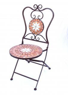 Sitzgruppe Merano 12001-2 Gartentisch + 2 Stk. Gartenstuhl aus Metall Mosaik Tisch + 2x Stuhl - Vorschau 2