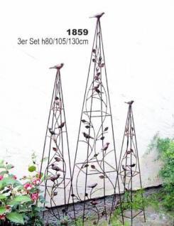 Pyramide 1859 Rankhilfe aus Metall 3er Set 80, 105, 130cm Kletterhilfe Zaun - Vorschau