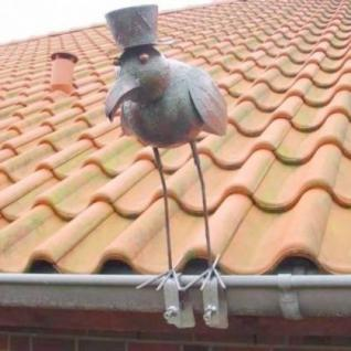 Vogel Möwe aus Metall Dachschmuck für die Dachrinne 42cm