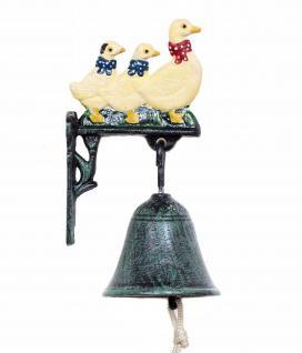 Türglocke Enten Familie 21105 Glocke aus Metall Gusseisen mit Ente Türklingel