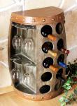 Weinregal Weinfass Nr.1547 Beistelltisch Schrank Fass aus Holz 65cm Weinbar Bar