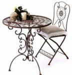Tisch mit 2 Stühle Kolonialstil Schmiedeeisen Tecla NEU