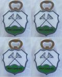 Flaschenöffner Wietzendorf Wappen mit Magnet 4 Stk.