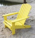 DanDiBo Strandstuhl Sonnenstuhl aus Holz Gelb Gartenstuhl klappbar Adirondack Chair Deckchair