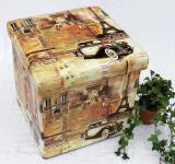 Hocker aus Kunstleder Sitzhocker 2001 Aufbewahrungsbox 40cm Sitzwürfel Truhe Korb