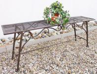"Bank Sitzbank ""CUCCIO-XL"" B-120cm 77824 Gartenbank aus Metall Gartenmöbel"