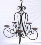 """Kronleuchter Kerzenleuchter """"Corso"""" 78420 Hängeleuchter 5-armig Metall H-60cm"""