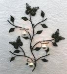 Wandteelichthalter 12120 Teelichthalter aus Metall 62cm Wandleuchter Kerzenhalter