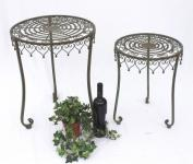 """Tisch 2er Set """"Malega"""" Beistelltisch 12189 Kaffeetisch aus Metall Couchtisch"""