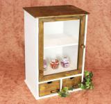 Schrank Minivitrine 12024 Küchenschrank Regal 50cm Shabby Küchenregal Vitrine