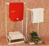 Handtuchhalter Badezimmer Set Gala 90cm Weiß 2 x Handtuchständer Tuchhalter