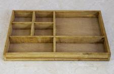Sortierkasten Setzkasten 12292 aus Holz 32cm Sammlervitrine Sortierschublade