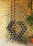 """Weinregal """"Grand Feu"""" 190cm Metall Schmiedeeisen für 127 Flaschen Flaschenhalter"""