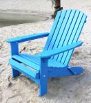 DanDiBo Strandstuhl Sonnenstuhl aus Holz Blau Gartenstuhl klappbar Adirondack Chair Deckchair