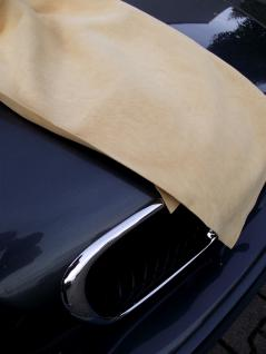 Autoleder Fensterleder Ledertuch - echte Trangerbung ca. 60x90 cm - Lederlappen