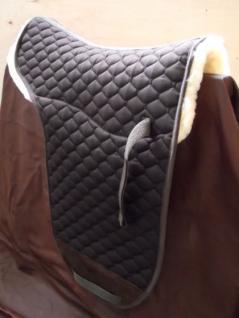 Luxus echt Lammfell Satteldecke für Stocksattel und Dressur Lammfellsatteldecke - Vorschau
