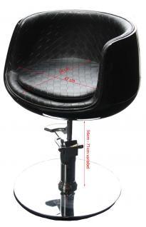 1895 Frisierstuhl PALIANO Rahmen schwarz, PVC schwarz - Vorschau 2