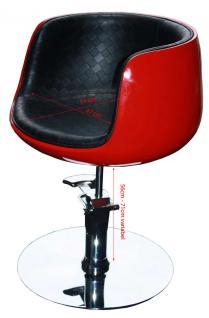 1895 Frisierstuhl PALIANO Rahmen rot, PVC schwarz MANGELEXEMPLAR - Vorschau 2
