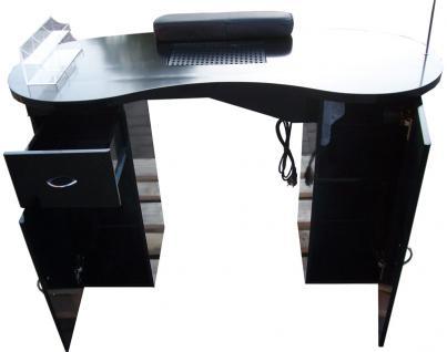 1072 Maniküre-Tresen mit Absaugung Schleiflack schwarz (V.1) - Vorschau 1