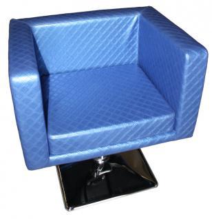 1374 Friseurstuhl MASSA blau