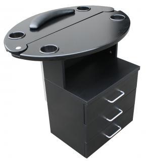 1468 Mini-Bedienplatz schwarz, Platte schwarz - Vorschau 1
