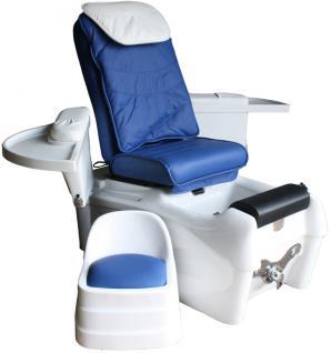 1476 SPA Fußpflegestuhl mit Massage / Sitz blau