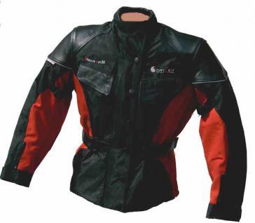 Damen-Tourenjacke STREET-CYCLE schwarz-rot - Vorschau 1