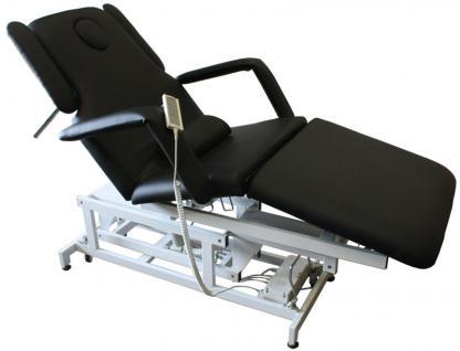 1600 elektrische Behandlungsliege 3-teilig schwarz - Vorschau 1