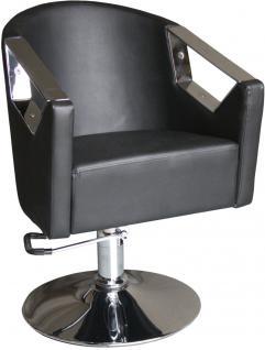 1814 Friseurstuhl ASIMO schwarz - Vorschau 1