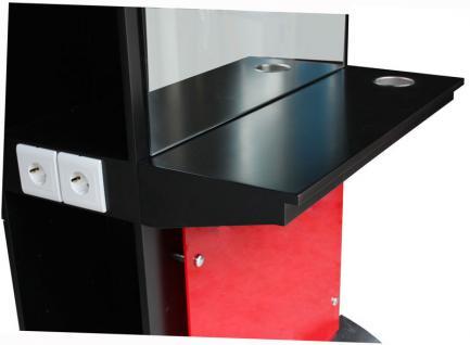 2026 Spiegel AOSTA einseitig mit LED, Schleiflack schwarz - Vorschau 3