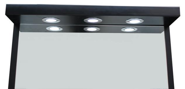 2026 Spiegel AOSTA einseitig mit LED, Schleiflack schwarz - Vorschau 4