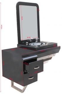 2028 System-Arbeitsplatz ORISTANO (Erweiterungsmodul +1) Schleiflack schwarz - Vorschau 3